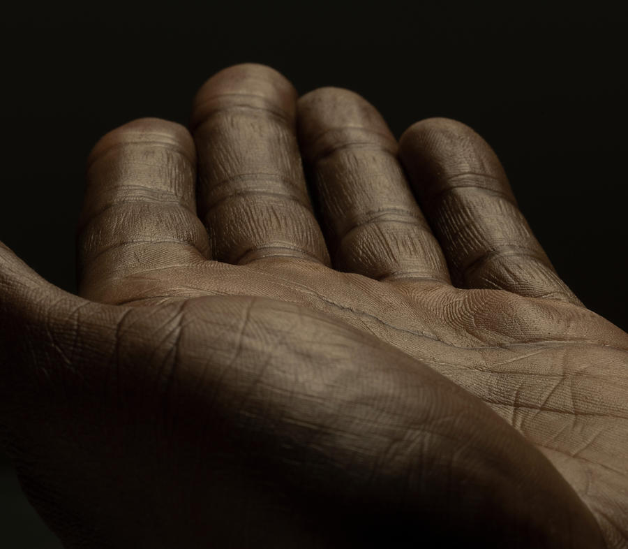 Close Up Of An Open Male Hands, Dark Photograph by Jonathan Knowles