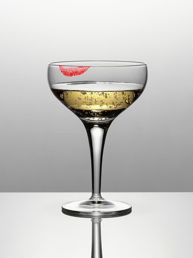 Close Up Of Champagne In Glass With Photograph by Andy Roberts