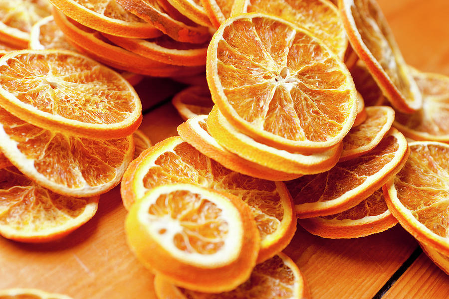 Close Up Of Dried Orange Slices Photograph by Nils Hendrik Mueller
