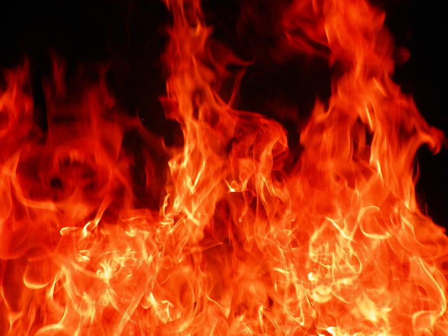 Close-up Of Fire Photograph by Alex Henley / Eyeem