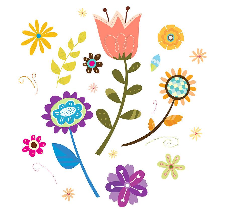 Close-up Of Flowers Digital Art by Eastnine Inc.