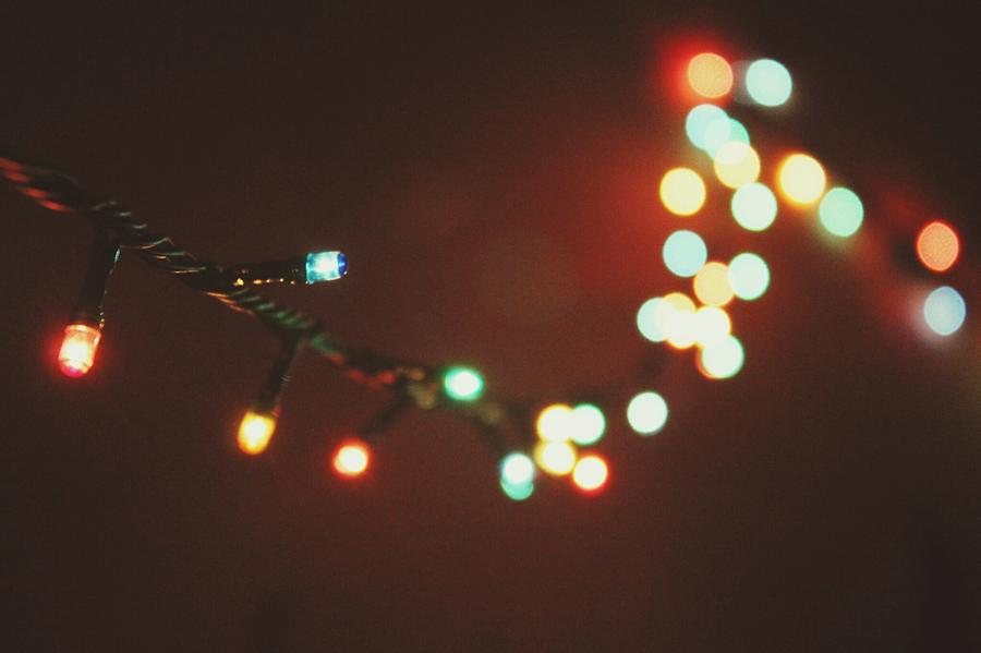 Close-up Of Lit Colorful Lights Photograph by Rara Subair / Eyeem