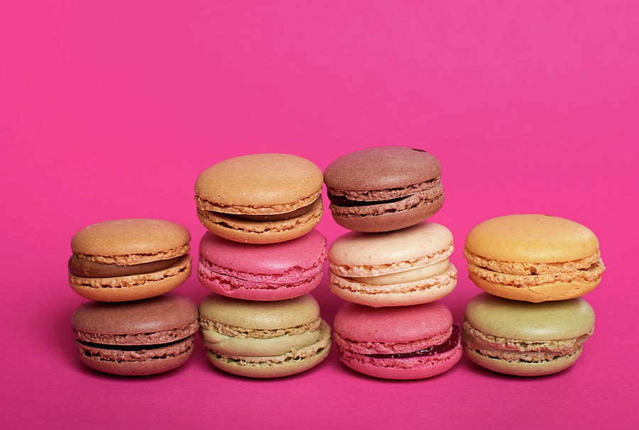 Close-up Of Multi Colored Macaroons Photograph by Stefan Dinse / Eyeem