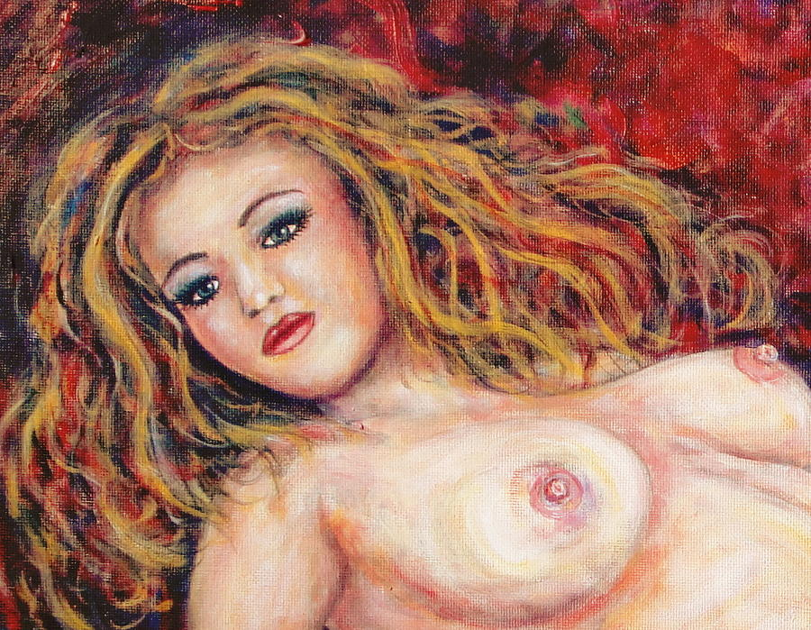 Nude Painting - Close-up Of Naked by Natalie Holland