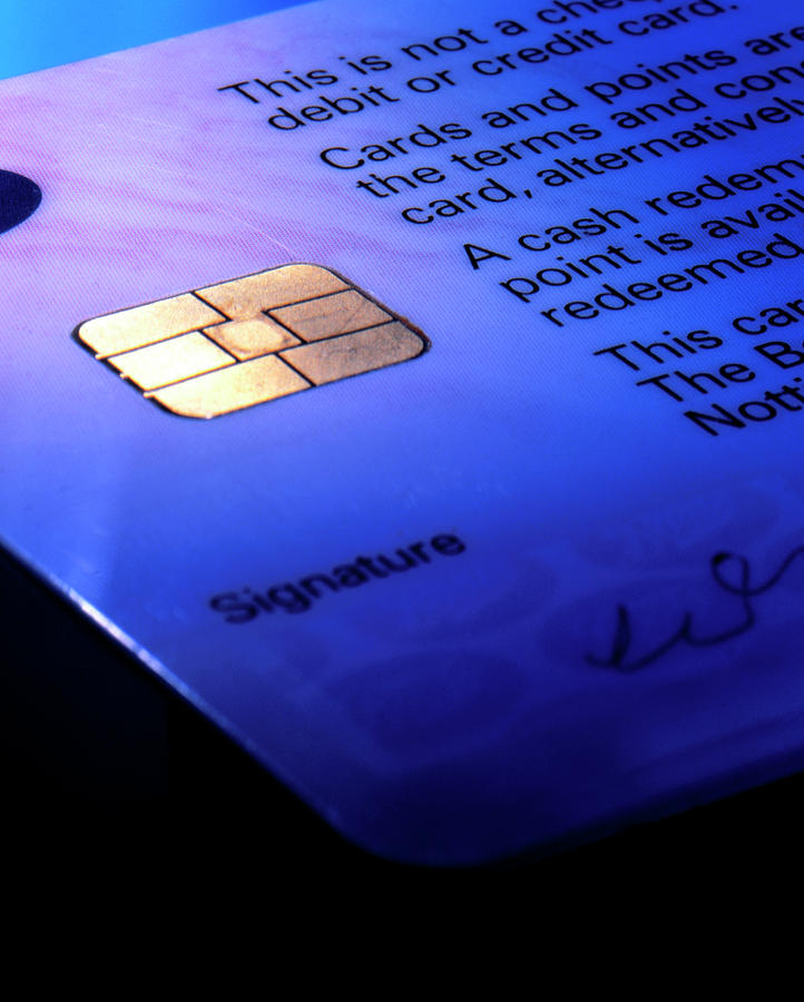 Smart Card Photograph - Close-up Of Part Of A Smart Card by Sheila Terry/science Photo Library