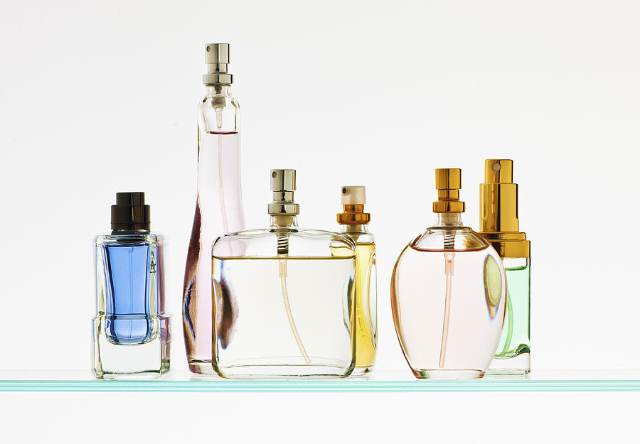 Close up of perfume sprayers Photograph by Tetra Images