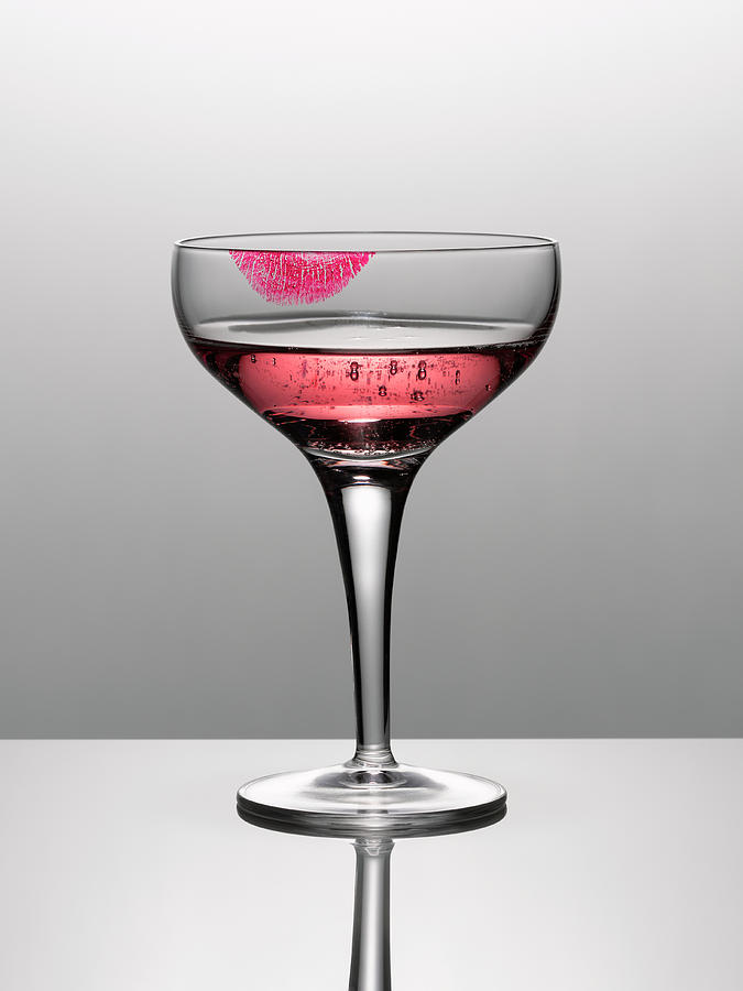 Close Up Of Pink Champagne In Glass Photograph by Andy Roberts
