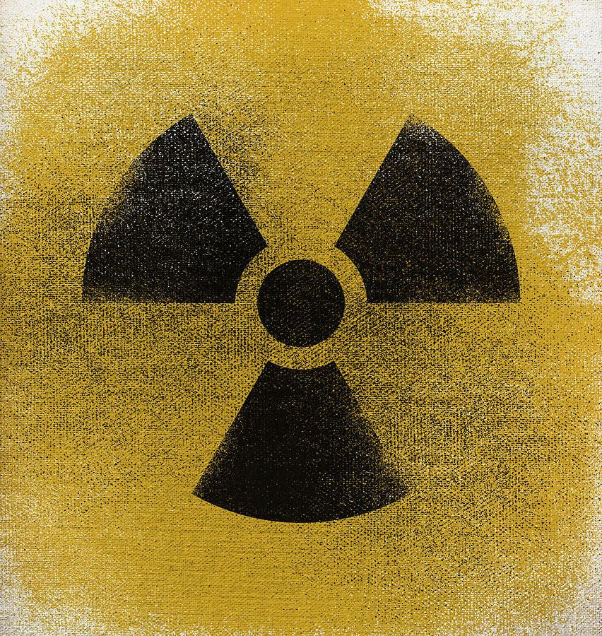 Close-up of radioactive warning symbol Drawing by Malte Mueller