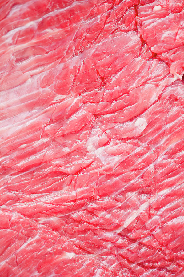 Close Up Of Raw Meat, Studio Shot Photograph by Jamie Grill