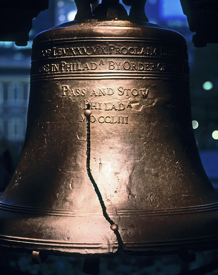 Vertical Photograph - Close-up Of The Liberty Bell by Panoramic Images
