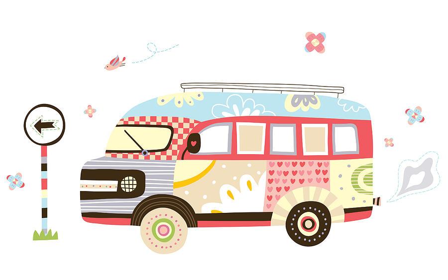 Close-up Of Van Digital Art by Eastnine Inc.