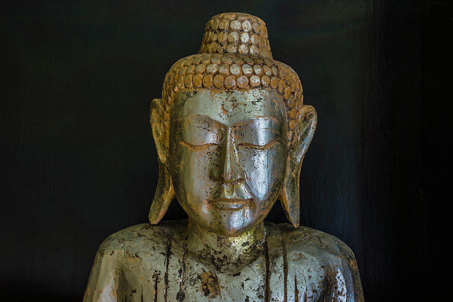 Close-up Of Wooden Buddha Statue Photograph by Ingo Jezierski