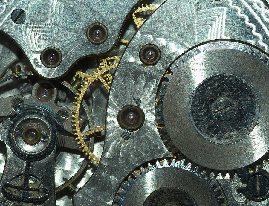 Close-up View Of Complex Clockwork Photograph by Calysta Images