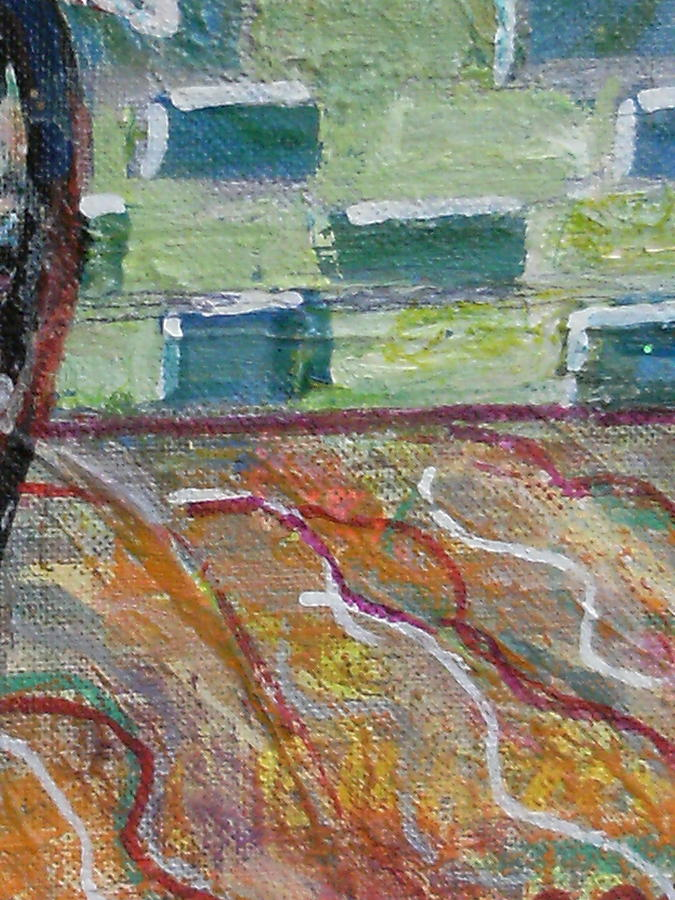 Green Painting - Close View Of One Of My Paintings by Anne-Elizabeth Whiteway