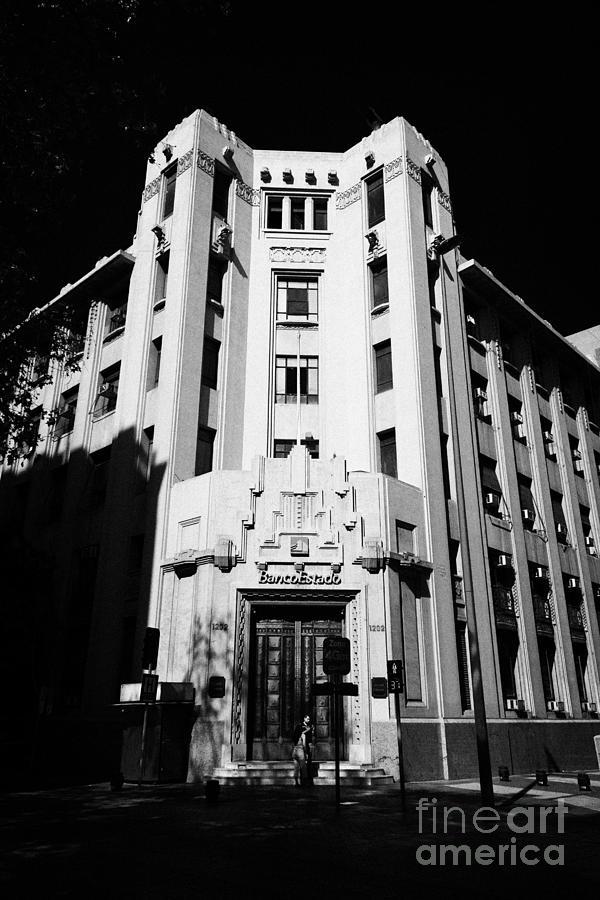 Closed Photograph - closed branch of banco estado the state bank Santiago Chile by Joe Fox