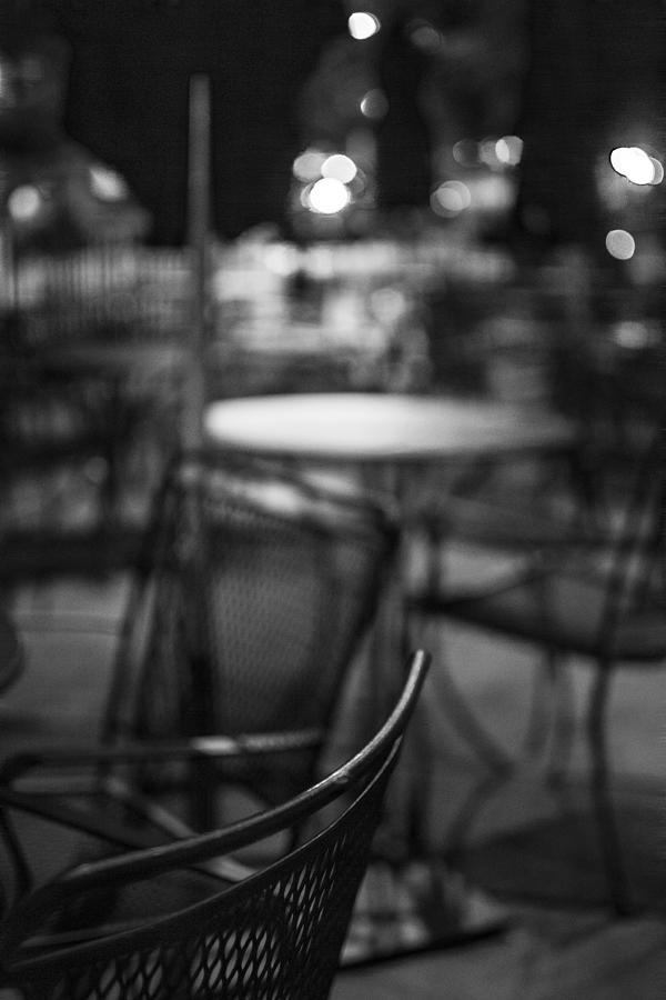 Night Photograph - Closed Dining by Michael Williams