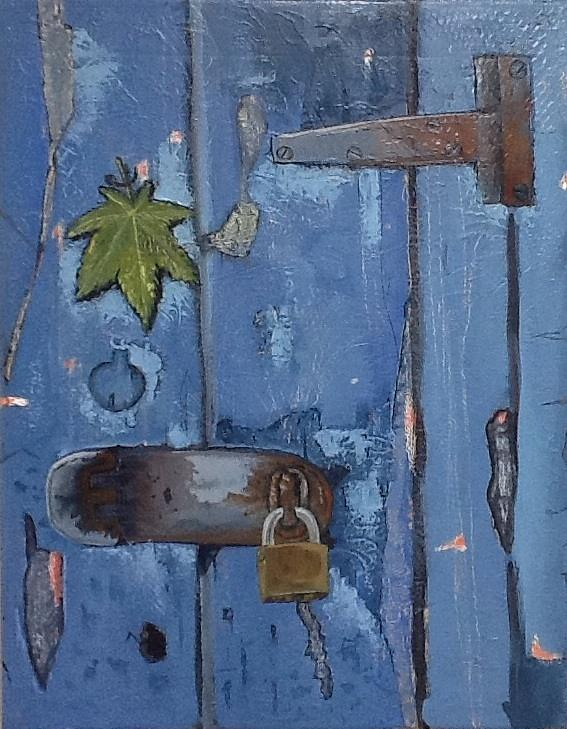 Closed Doors Painting by Carlos Rodriguez Yorde