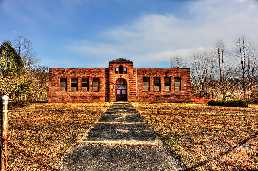 School House Photograph - Closed School In Small Town Wv by Dan Friend
