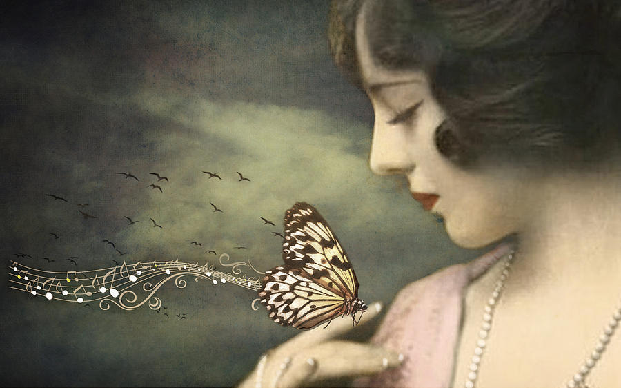 Butterfly Digital Art - Closer To Fine by Marie  Gale