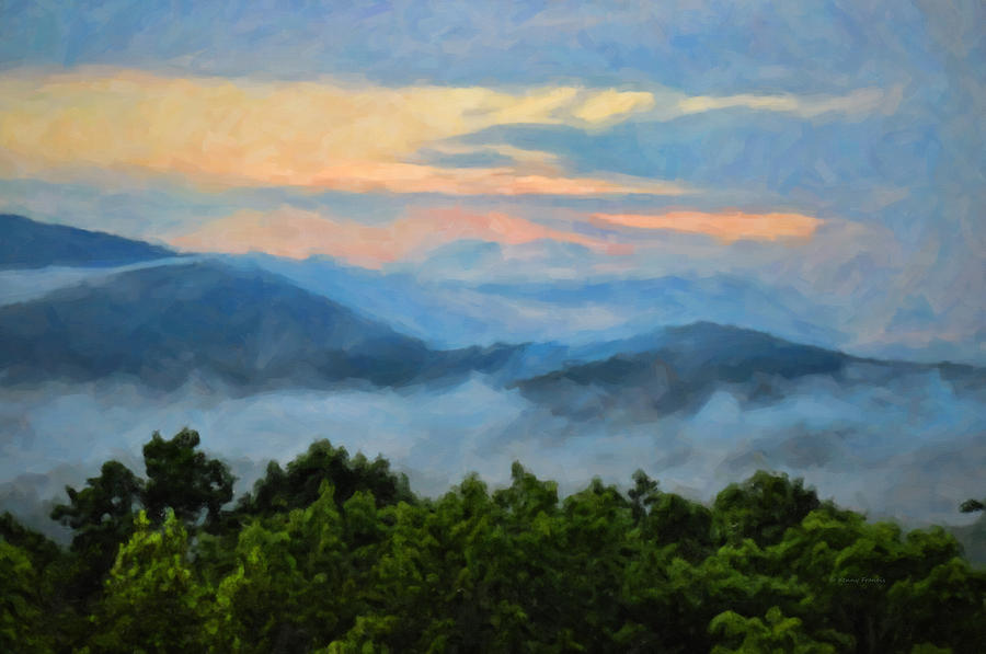 Kenny Francis Photograph - Closer To Heaven In The Blue Ridge Mountains by Kenny Francis