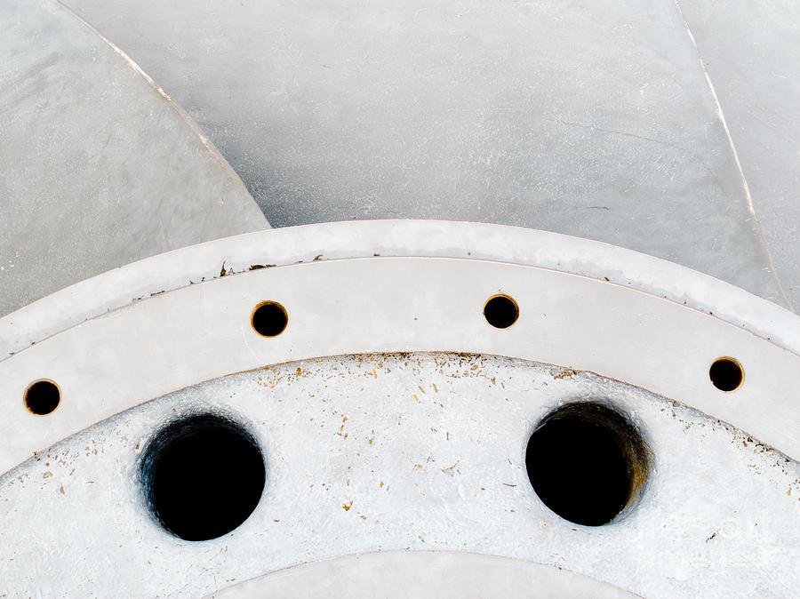 Closeup Of Metal Hydroelectric Turbine Rotor Photograph