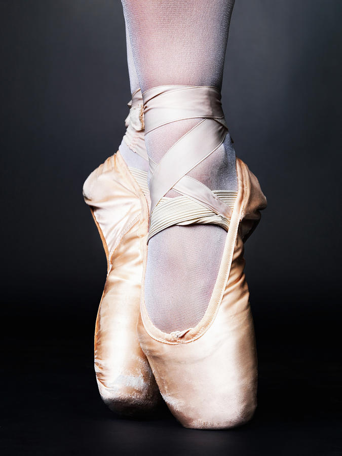 Closeup Of Pointe Ballet Slippers Photograph by Yuri
