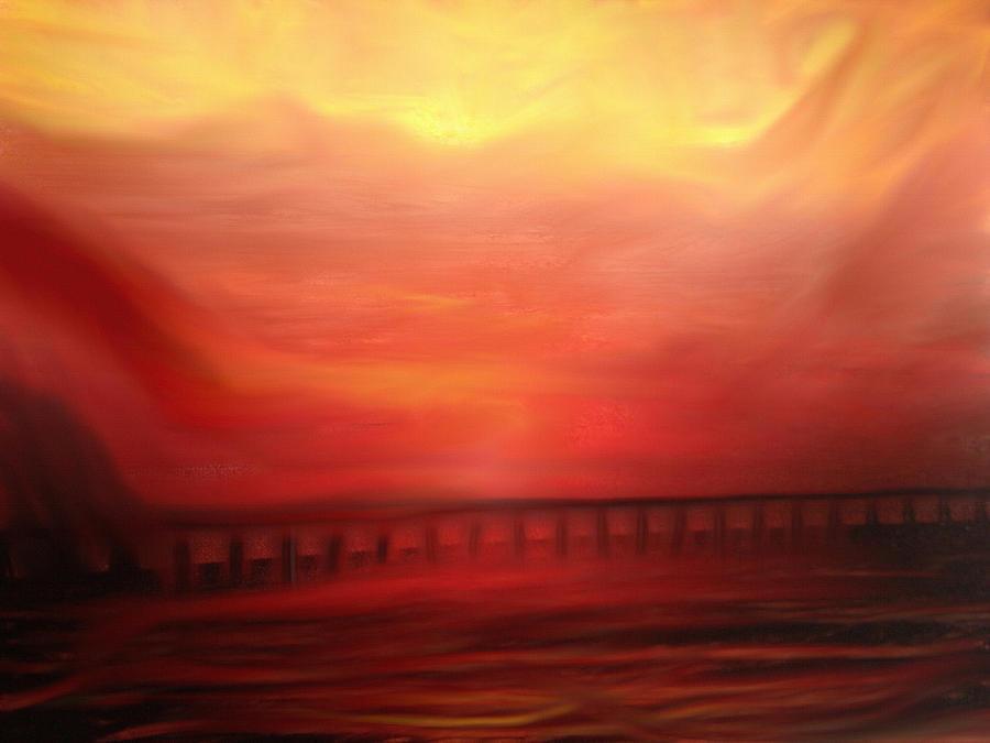 Bridges Painting - Closing The Hills Of Aaragon by Dennis Buckman
