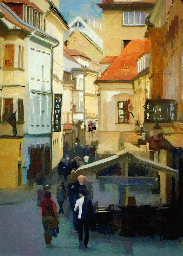 Old Town Painting - Closing Time by Jeffrey Kolker