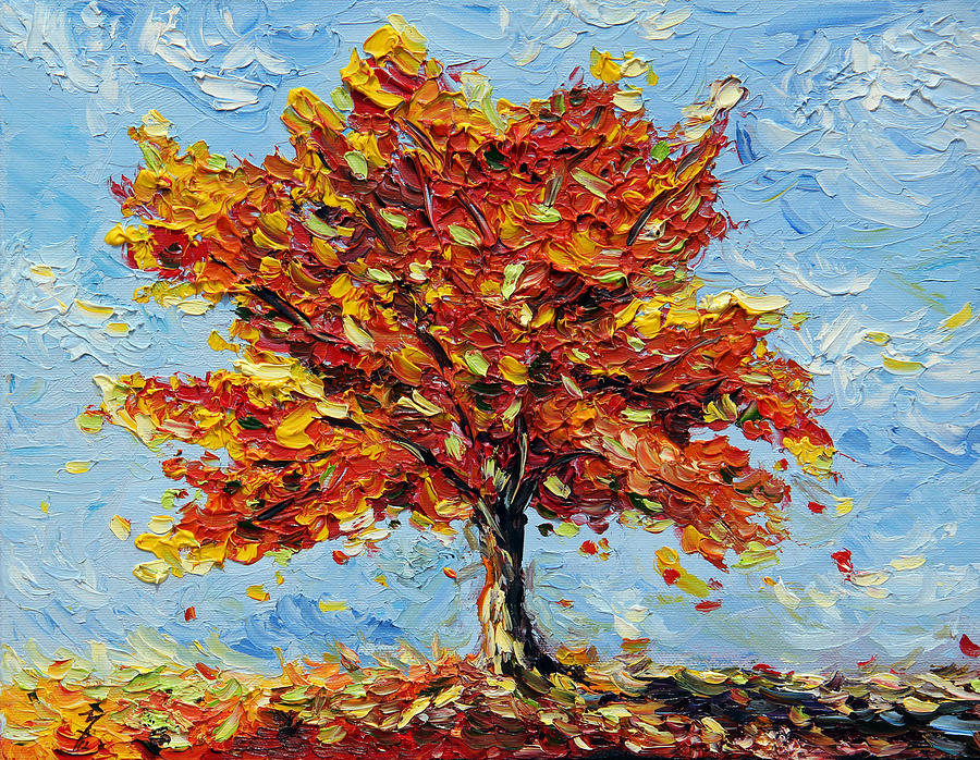 Tree Painting - Clothed With Joy by Meaghan Troup