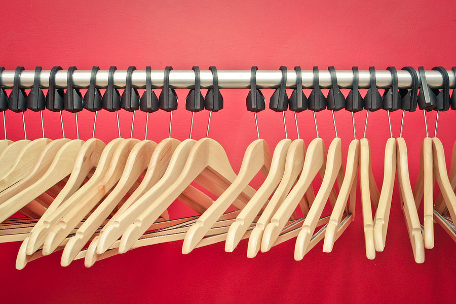 Background Photograph - Clothes Hangers by Tom Gowanlock