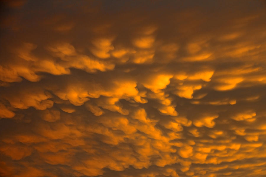 Mammatus Clouds Photograph - Cloud 20130531-33 by Carolyn Fletcher