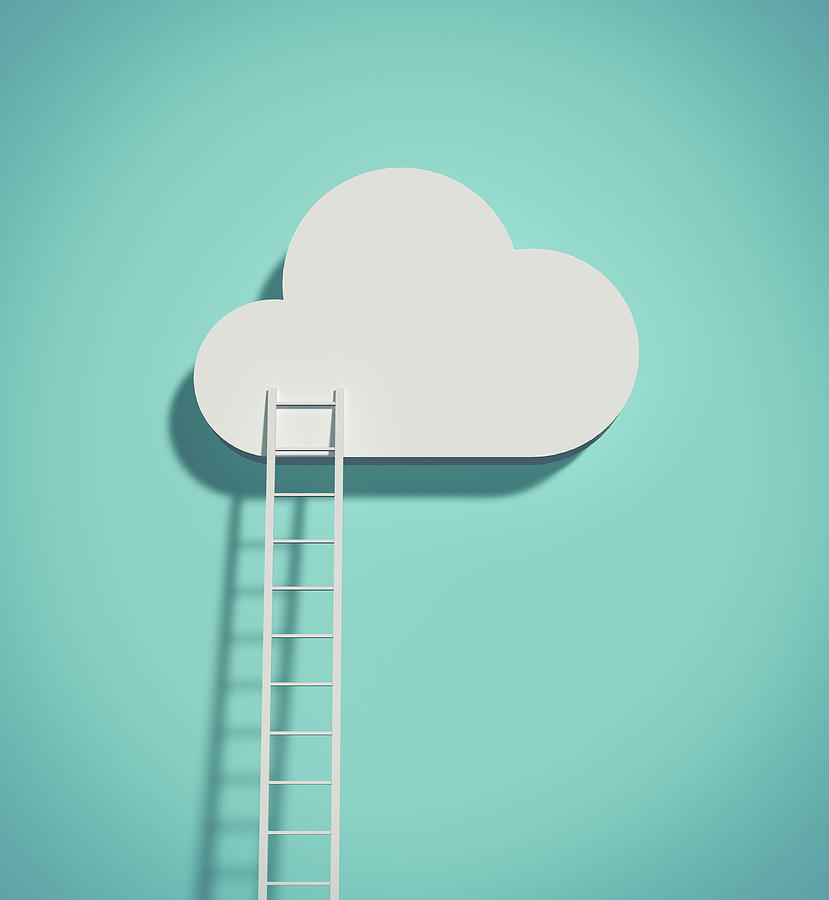 Cloud And Ladder Digital Art by Yagi Studio