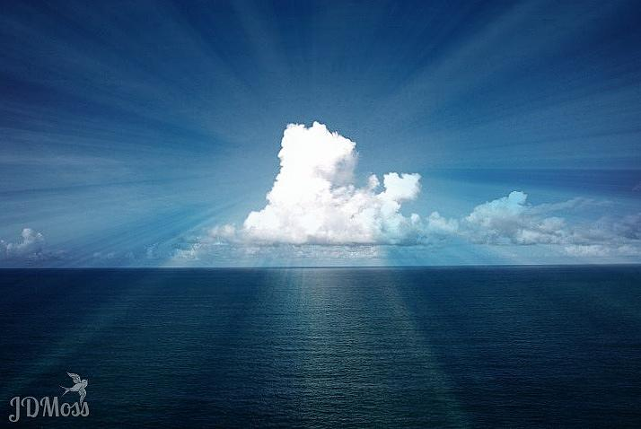 Ocean Photograph - Cloud Burst by Janet Moss