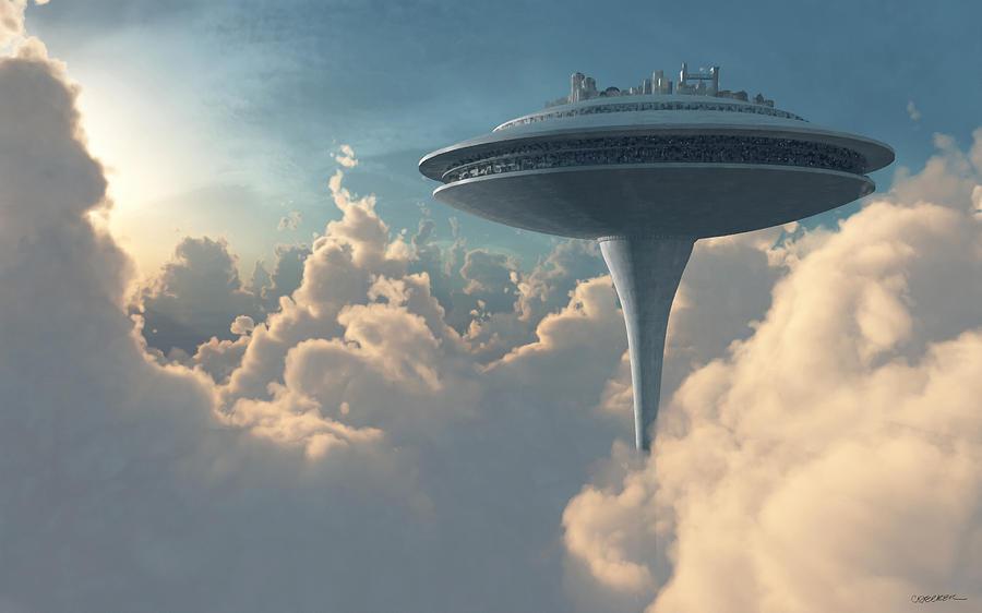 Star Wars Digital Art - Cloud City by Cynthia Decker