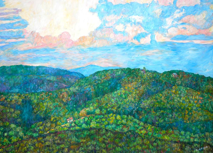Mountainscape Painting - Cloud Dance On The Blue Ridge by Kendall Kessler