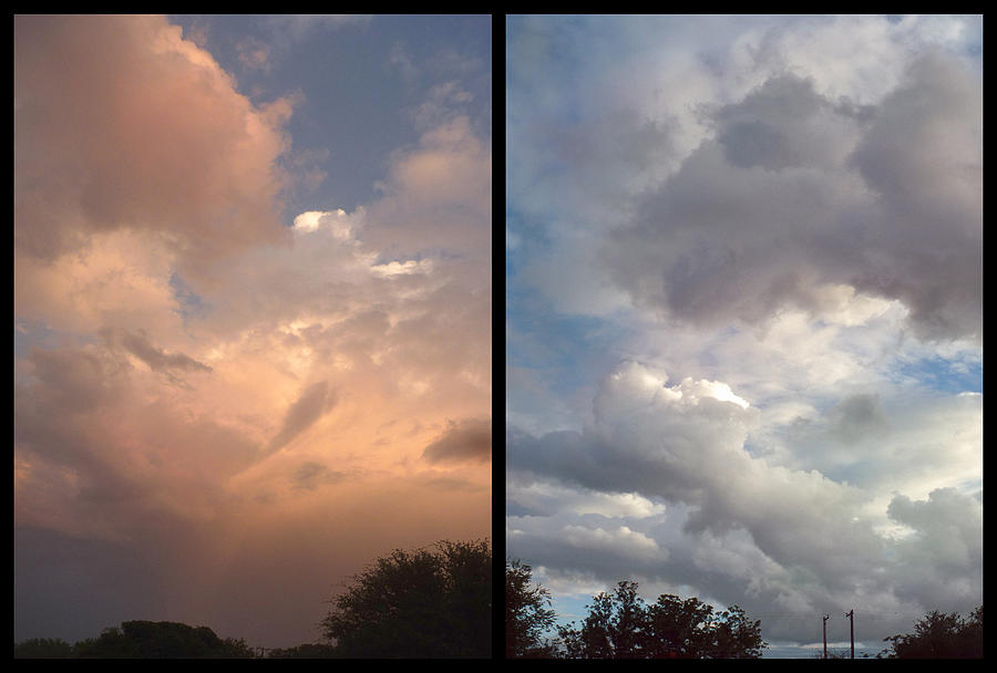 Clouds Photograph - Cloud Diptych by James W Johnson