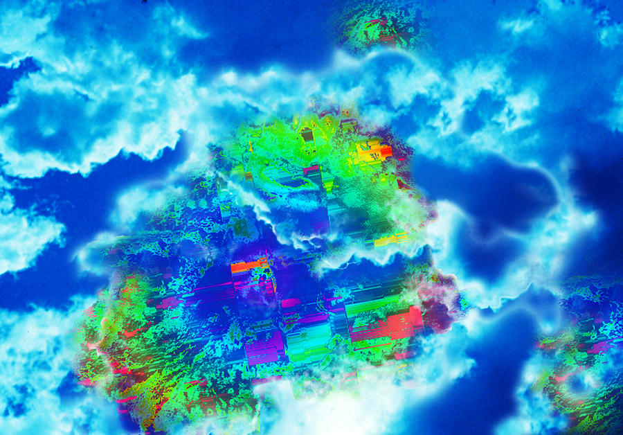 Clouds Digital Art - Cloud Genesis by Colleen Cannon