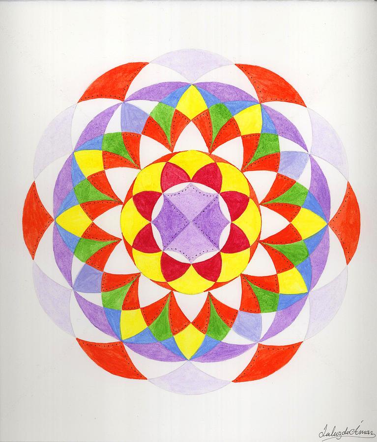 Mandala Painting - Cloud Mandala by Silvia Justo Fernandez