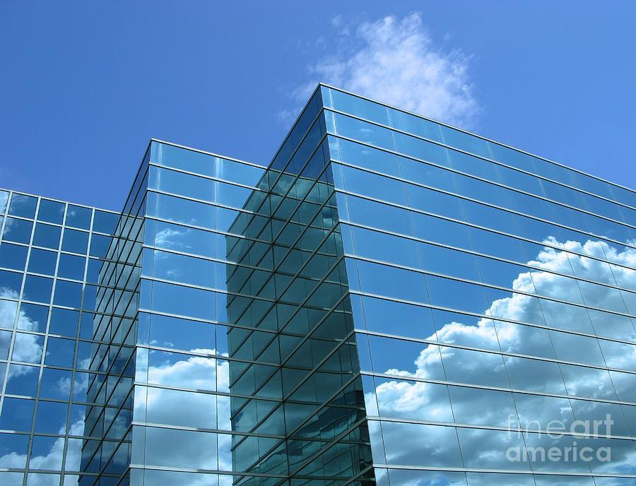 Building Photograph - Cloud Mirror by Ann Horn