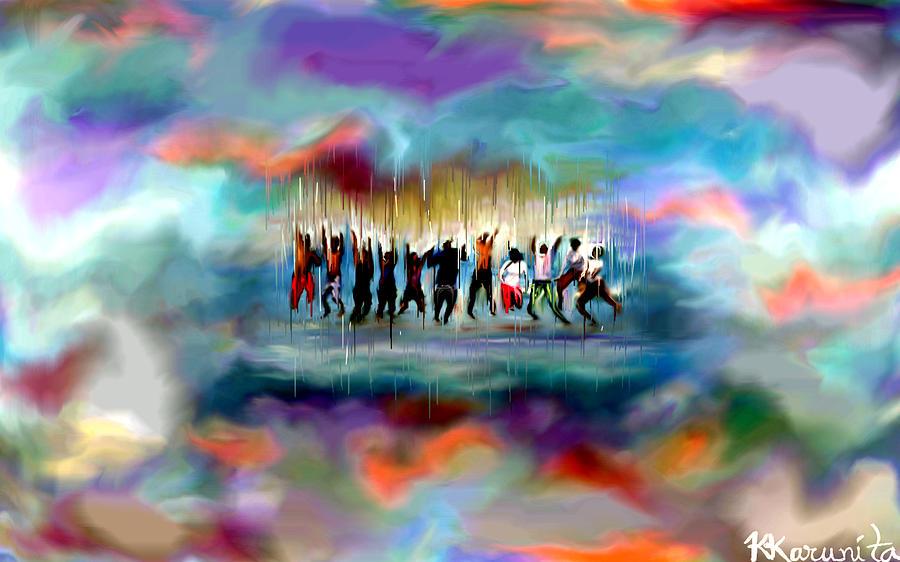 Cloud 9 Painting - Cloud Nine by Karunita Kapoor