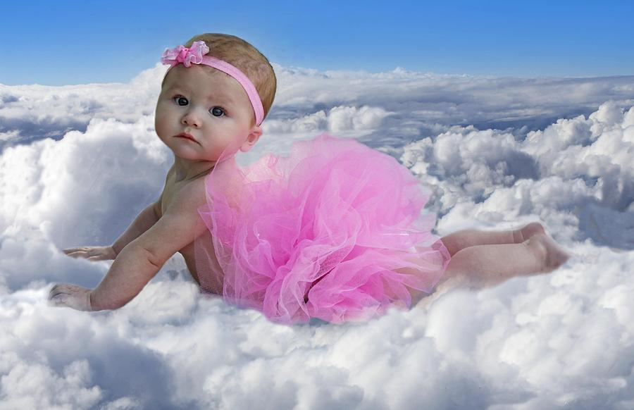 Baby Photograph - Cloud Nine by Mamie Thornbrue