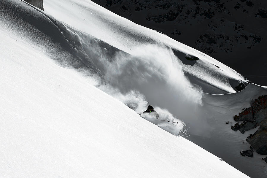 Freeride Photograph - Cloud Of Snow by Jakob Sanne