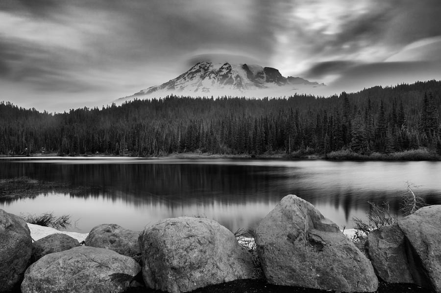 Mount Rainier Photograph - Cloud Show by Manju Shekhar