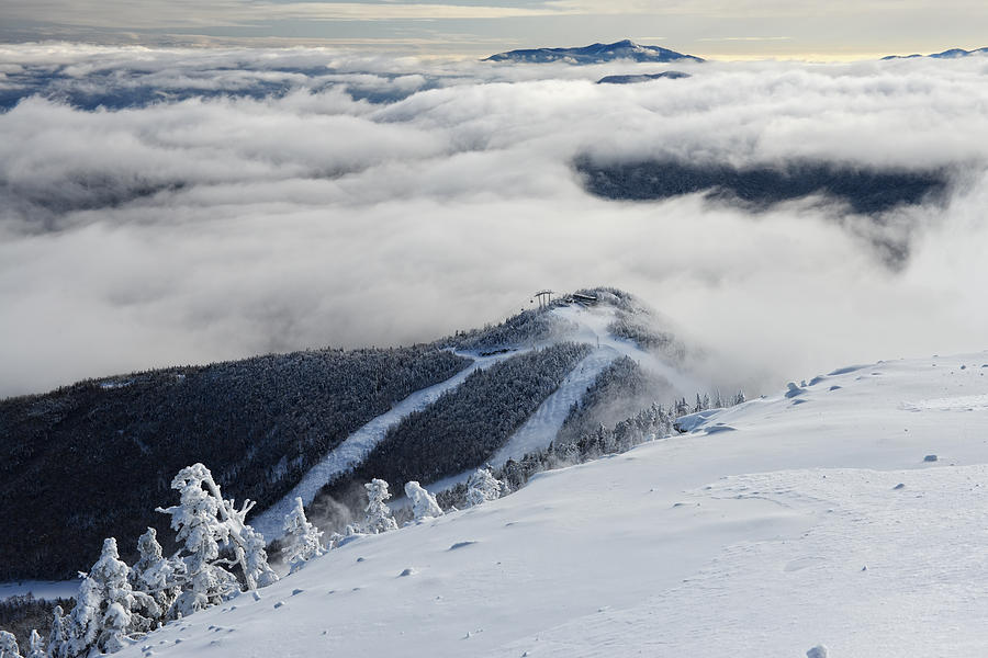 Whiteface Mountain Photograph - Cloud Splitter by Bernard Chen