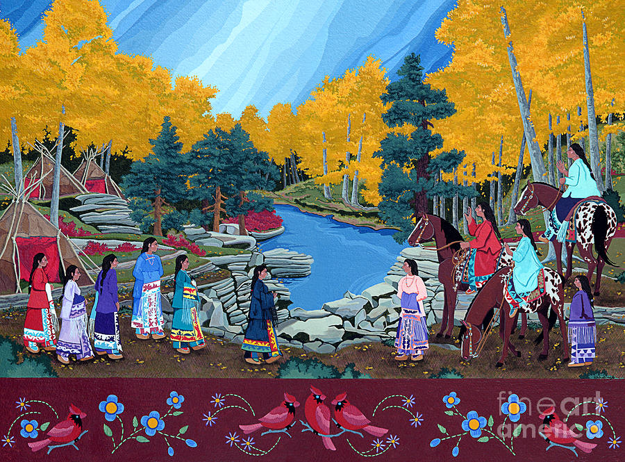 America Painting - Cloud Women At Thunderbird Mountain by Chholing Taha