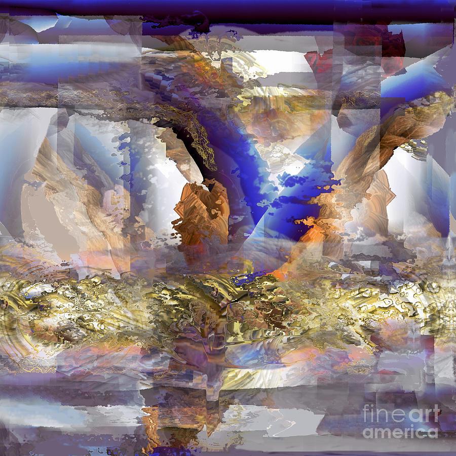 Nature Digital Art - Cloudburst by Ursula Freer
