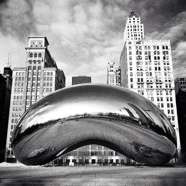 America Photograph - Chicago Bean Cloud Gate Photo by Paul Velgos
