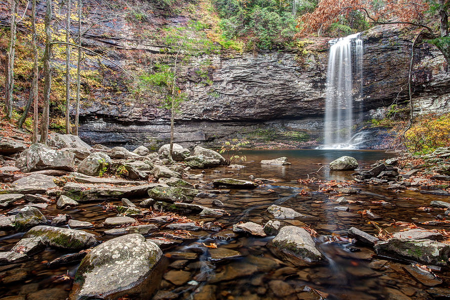 Cloudland Canyon Photograph - Cloudland Canyon Falls by Scott Moore