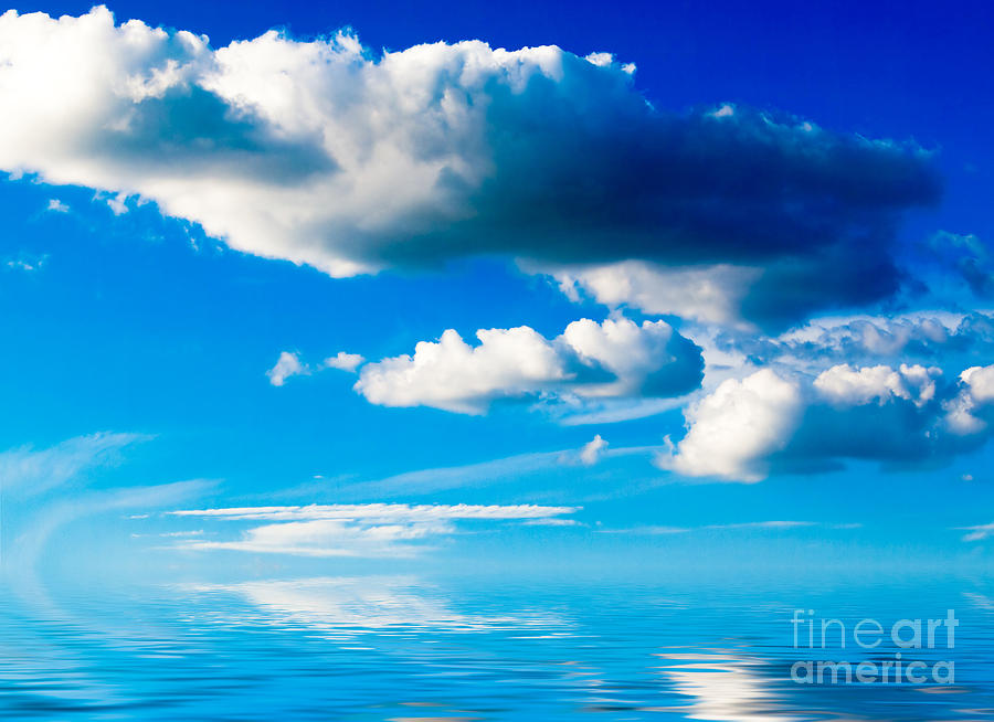 Animal Paintings Photograph - Clouds And Sea by Boon Mee