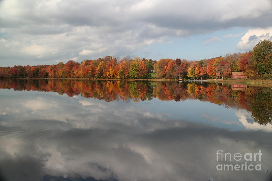 Clouds in Lake by Deborah A Andreas